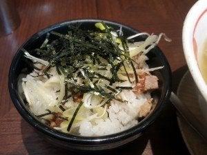 麺屋空海の「刻み焼豚飯」